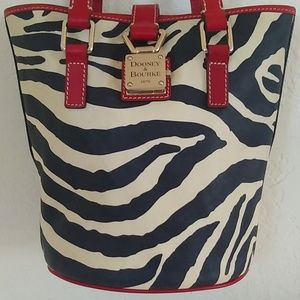 Dooney & Bourke Zebra Midsized Bucket Bag